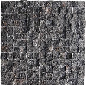 23x23 mm Siyah Doğal Taş Fileli Patlatma (AKŞEHİR)