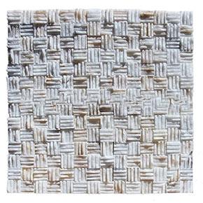 23x23 mm Taraklı Simli Beyaz Patlatma Taş