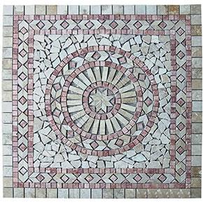 1x92x92 cm Dekoratif Doğal Taş Mozaik Göbek